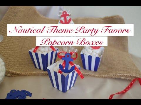 DIY Easy Nautical/Sailor Theme Party Favor- Anchor Popcorn Boxes