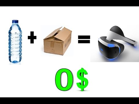 Make VR goggles from cardboard and a bottle for free 2016