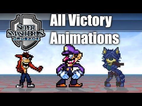 Super Smash Bros Crusade v0.9.1 - All Victory Animations