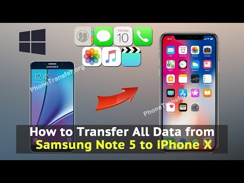 How to Transfer All Data from Samsung Note 5 to iPhone X