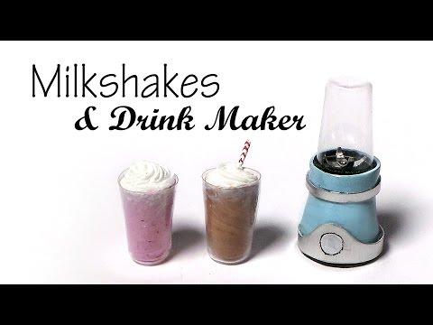 Milkshakes & Drink Maker / Blender - Polymer Clay Tutorial