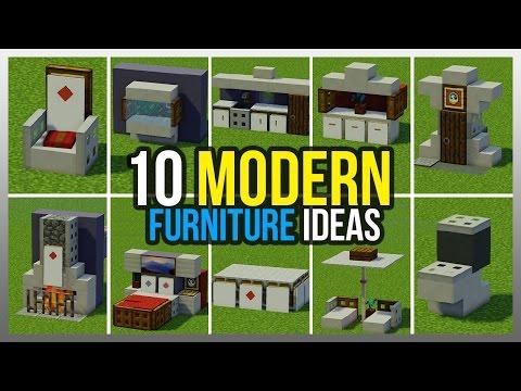 ✔️ 10 Modern Furniture Ideas! (Minecraft)