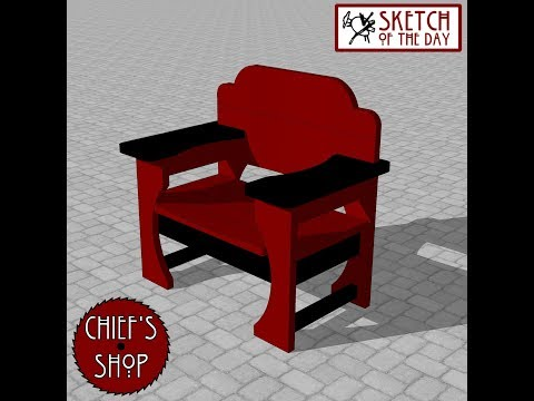 Chief's Shop Sketch of the Day: Badass Chair