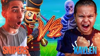 1V1 9 YEAR OLD BROTHER VS TRASH TALKER (SNIPERSLRN) SKINS WAGER! FORTNITE PLAYGROUND! *GONE WRONG!*