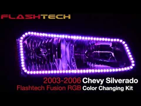 Chevy Silverado V.3 Color Change upper outline halo headlight kit (2003-2006)