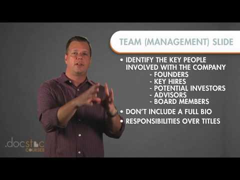 Management Slide - Creating The Killer Business Plan