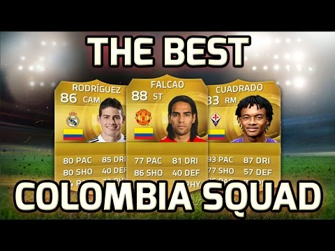 FIFA 15 - THE BEST COLOMBIA SQUAD!!! - Fifa 15 Colombian Squad Builder