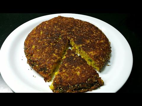 Instant Handvo recipe - Handvo recipe in Hindi - Gujarati Handvo - How to make Handvo