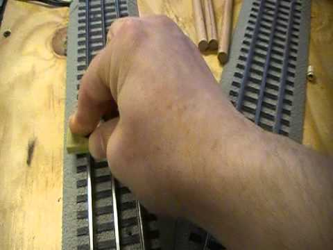 How To Clean Railroad Lionel Train Track Eraser Oxidation Dirt Soil Video