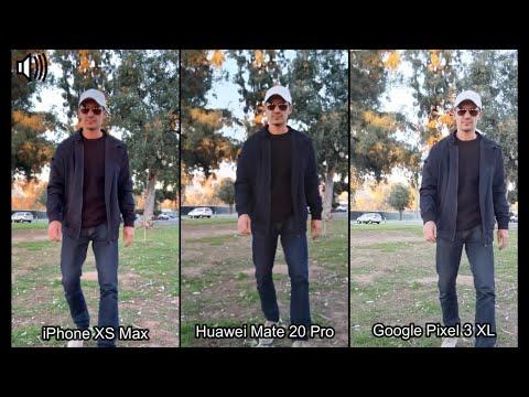 Mate 20 Pro vs iPhone XS Max vs Pixel 3 XL (Video/Photo/Mic Comparison)