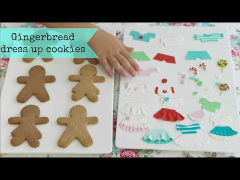 Gingerbread Cookie dress up dolls