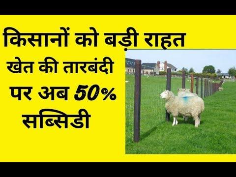 किसानों को जमीन की तारबंदी पर मिलेगा अनुदान || agriculture subsidy in india