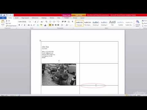 How to make business cards with Microsoft Word