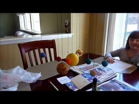 Homemade DIY School Project Solar System Model Display