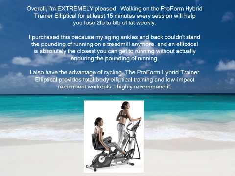 Lose Belly Fat Quickly and Easily With ProForm Hybrid Trainer Elliptical