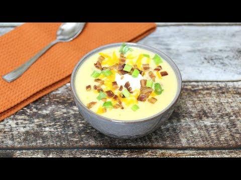 Loaded Potato Soup Recipe - Potato Cheese Soup