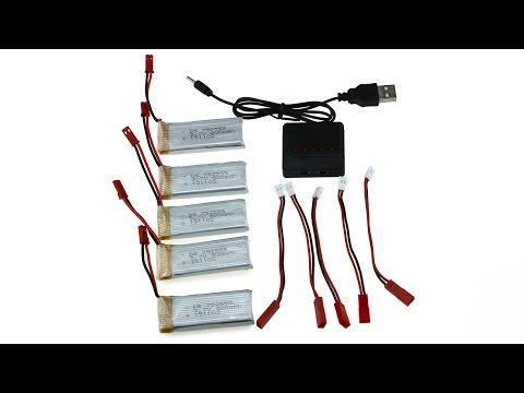 Charging Set 5 Pcs Battery  for JXD 509G 509V 509W 510W 510G