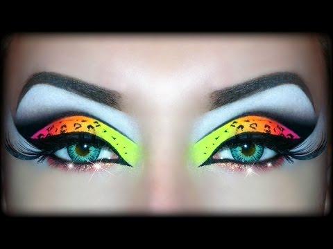 Neon UV Leopard Print - Makeup Tutorial (Sexy Halloween Look)