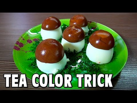 Tea Color Trick - Amazing Mushroom Eggs