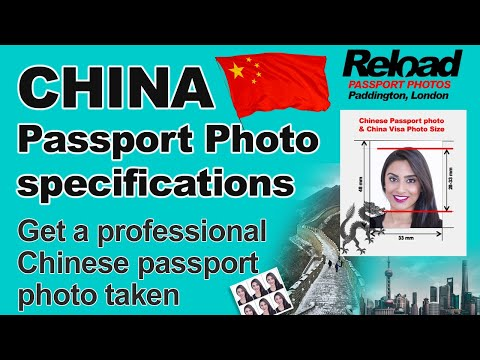 Chinese Passport Photo and Visa Photos for China snapped instantly at Reload Internet, Paddington