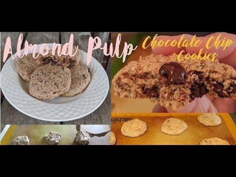 CHOCOLATE CHIP COOKIES - Almond Pulp Recipe - VEGAN, GF, RSF
