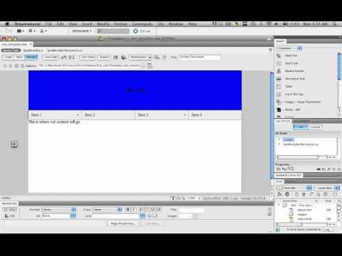 Dreamweaver Tutorial - Template 02 - Make Editable Regions