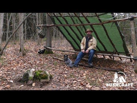 Bushcraft: Building a Basecamp Survival Shelter (Part One)