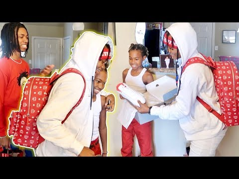 SURPRISING A YOUNG CANCER PATIENT WITH JORDANS!!!
