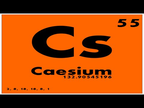 STUDY GUIDE: 55 Caesium | Periodic Table of Elements