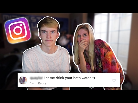 READING MY MOM'S INSTAGRAM COMMENTS!
