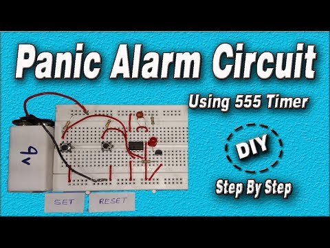 Panic Alarm Using 555 Timer | DIY Circuit | Homemade | Step By Step | How to