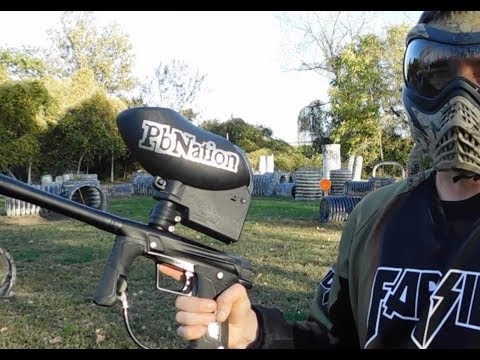 New Gmek mechanical paintball gun from Planet Eclipse shooting video