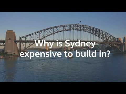 Why is Sydney expensive to build in?