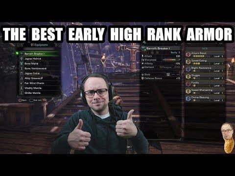 The Best Early High Rank Armor in Monster Hunter World Tutorial