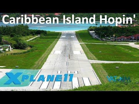 X-Plane 11 | St.Barts & More!! | Caribbean Island Hopin' | PIPA DA-62 | VATSIM | TJSJ Anyone?!