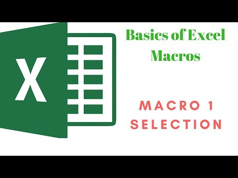 Basics of Excel Macro. Moving across cells