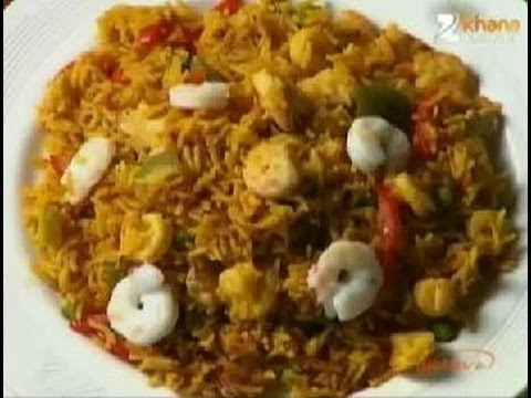 Paella - Sanjeev Kapoor - Khana Khazana