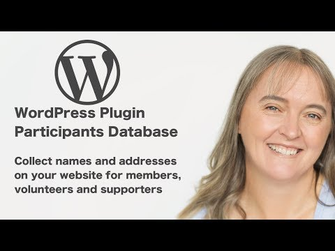 WordPress Plugin Participants Database - collect names and addresses on your website
