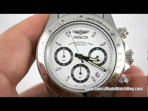 Invicta Watches   Men's 9211 Speedway Collection Stainless Steel Chronograph Watch