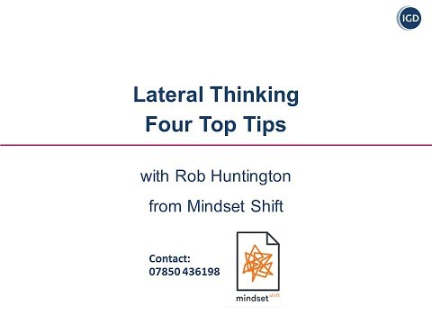 Lateral Thinking   Four Top Tips