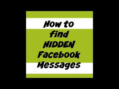 How to Find HIDDEN Facebook Messages On Your Phone