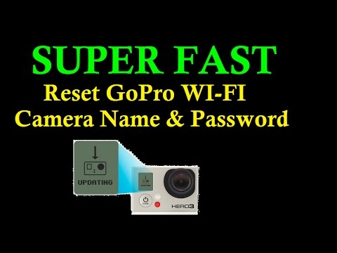 FAST - How to Reset GoPro Wifi Camera Name and Password