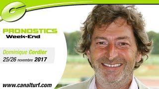 Pronostics WE Quinté+ PMU du 25 et 26 novembre 2017 - Dominique Cordier