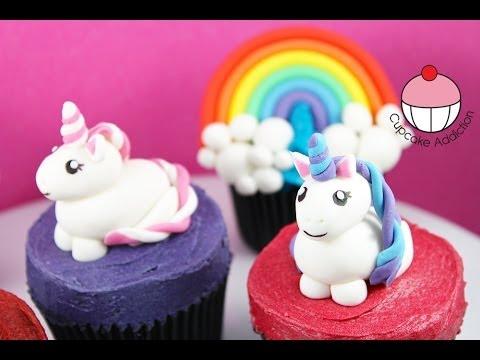Unicorn Cupcakes! Make Unicorns & Rainbows for Cakes & Cupcakes -A Cupcake Addiction How To Tutorial
