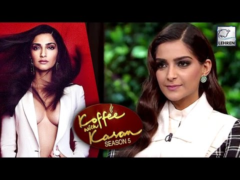 Sonam Kapoor's REACTION On Being Trolled For Flat Chest | Koffee With Karan 5 | LehrenTV