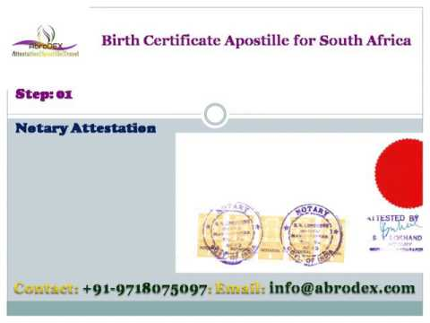 Birth Certificate Apostille for South Africa