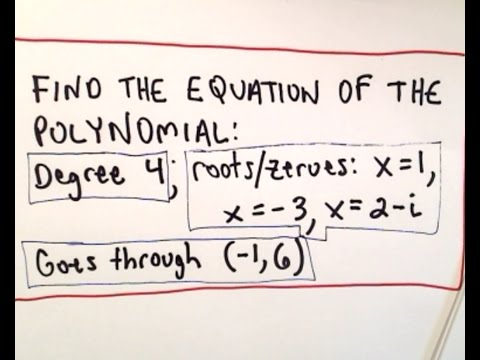 Find Equation of Polynomial given Degree, Roots (Complex) and a Point