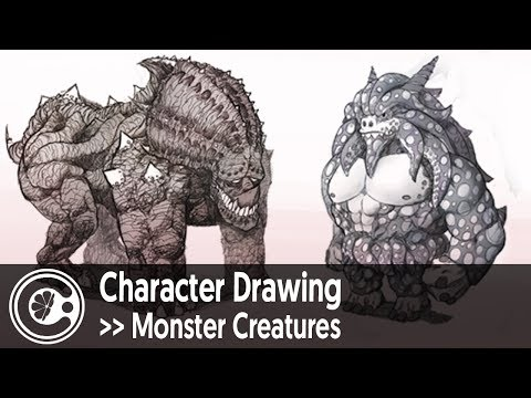Character Drawing: Monster Creatures