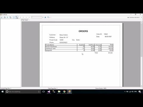 C# Tutorial - Print Orders/Receipt using Crystal Report | FoxLearn