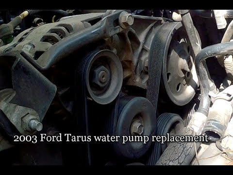 How-to:  2003 Ford Tarus water pump replacement